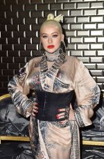 Christina Aguilera Attends the Jean Paul Gaultier Haute Couture Fall/Winter 2019 2020 show as part of Paris Fashion Week