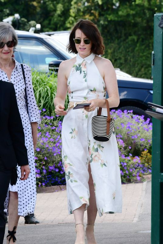Claire Foy At the Wimbledon Tennis Championships in London