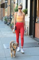 Daphne Groeneveld With her dog steps out New York