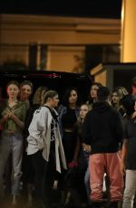 Demi Lovato Celebrates one of being sober at Barton G with a friends in West Hollywood