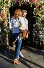 Eleanor Tomlinson Leaving Ivy Chelsea Garden in London