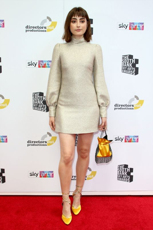 Ellise Chappell At The South Bank Sky Arts Awards, The Savoy Hotel, London