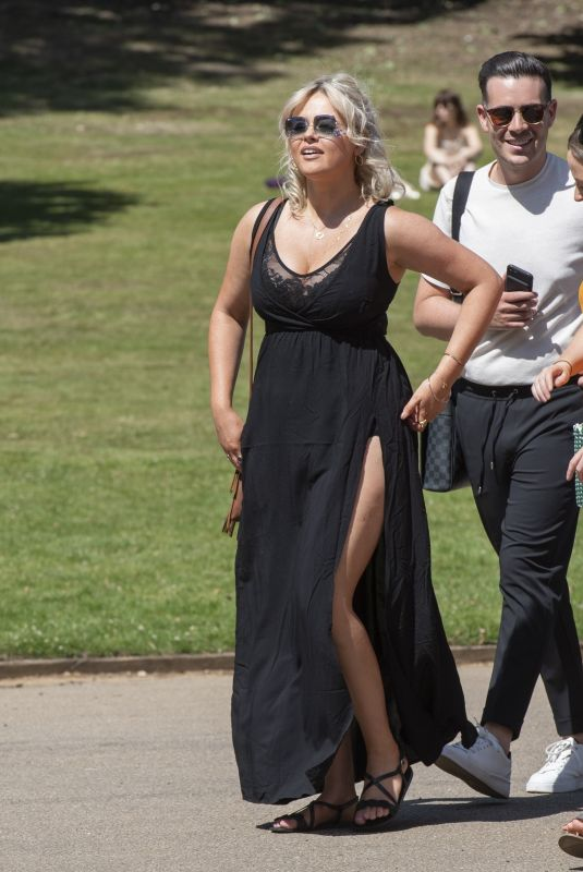 Emily Atack Arriving for the House Festival in Hampstead
