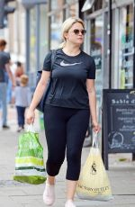 Emily Atack Leaving the gym and doing a bit of shopping in London