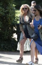 Emma Bunton Arriving for the House Festival in Hampstead