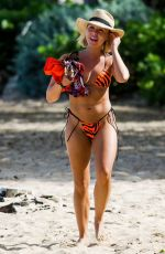 Gabby Allen Enjoys a day out on the beach while on vacation in Barbados