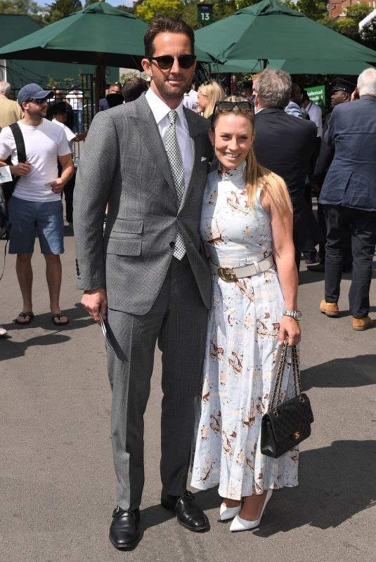 Georgie Thompson At Wimbledon Tennis Championships, Day 6, The All England Lawn Tennis and Croquet Club, London
