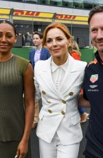 Geri Halliwell (Horner) and Melanie Brown Visit the Formula One Race at the British GP at Silverstone in Silverstone