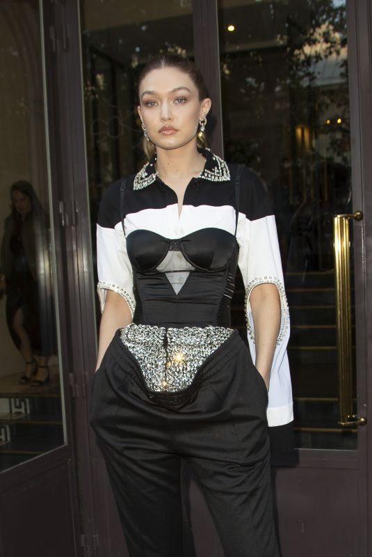 Gigi Hadid At Vogue Magazine Dinner in Paris