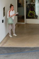 Hilary Duff At a medical building in Beverly Hills