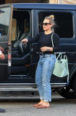 Hilary Duff Have lunch at Il Pastaio in Beverly Hills