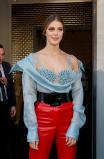 Iris Mittenaere At Jean Paul Gaultier Haute Couture F/W 19/20 show at Paris Fashion Week