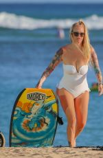 Jenna Jameson Shows off her curves on the beach in Hawaii
