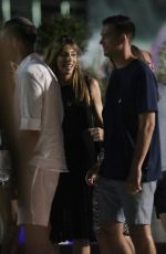 Jennifer Flavin and daughters Scarlet Rose, Sistine Rose and Sophia Rose enjoy a night out while on holiday in Croatia