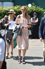Jodie Kidd Attends day 10 of the Wimbledon Tennis Championships at the All England Lawn Tennis and Croquet Club
