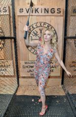 Katheryn Winnick At Vikings Battle Axe Training at Comic-Con in San Diego