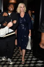 Katy Perry Leaving with a male companion at Craig's restaurant in West Hollywood