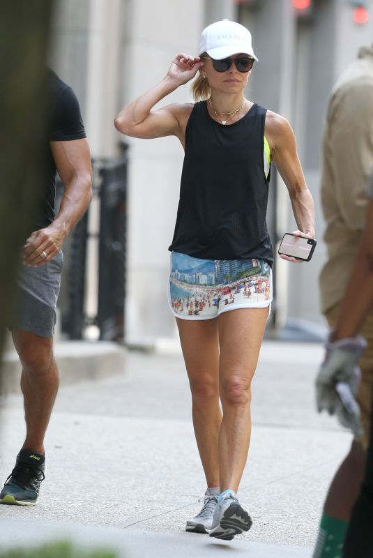 Kelly Ripa Going for a jog in Central Park in NYC