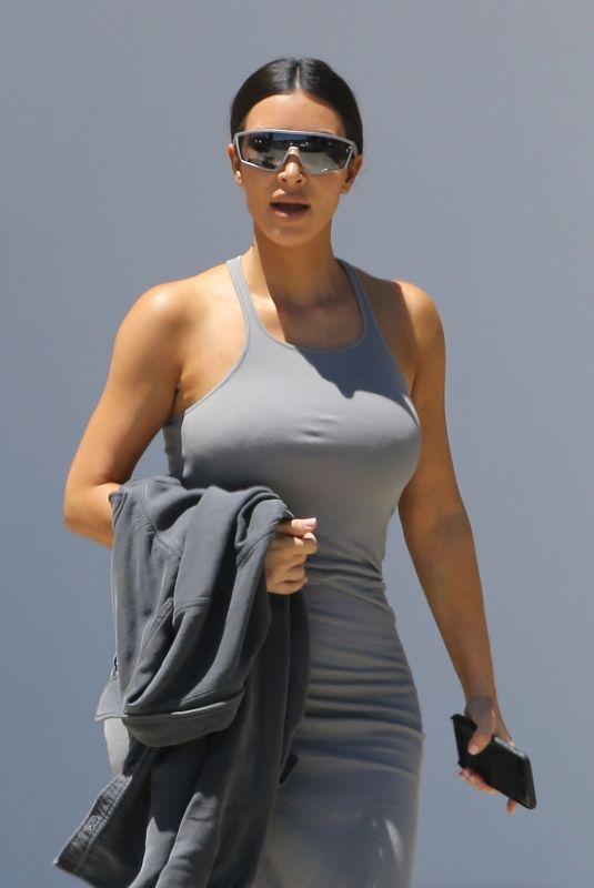 Kim Kardashian Attends church services in Los Angeles