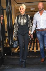Lady Gaga Leaves the The Mark Hotel in New York City