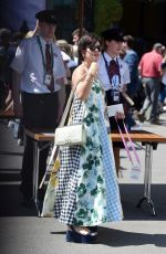 Lily Allen Attends day 10 of the Wimbledon Tennis Championships at the All England Lawn Tennis and Croquet Club