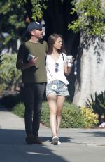 Lily Collins and Charlie Mcdowell out for a afternoon walk in Los Feliz