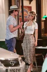 Lily James Out for dinner in Primrose Hill