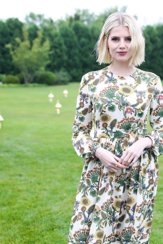 Lucy Boynton At Saks Fifth Avenue & Vogue's Tennis Match & Dinner held at a private estate in Sagaponack, New York City