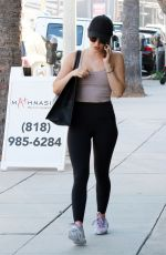 Lucy Hale Outside a gym in Studio City