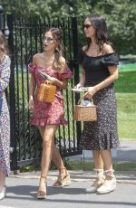 Lucy Watson Arrives at the Wimbledon Tennis Championships at All England Lawn Tennis and Croquet Club