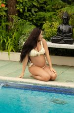 Marnie Simpson Shows off her growing baby bump in Cyprus