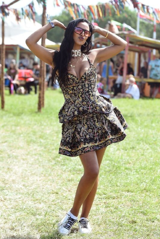 Maya Jama At 2019 Glastonbury Festival at Worthy Farm in Pilton Somerset England