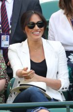 Meghan, Duchess of Sussex At Day 4 of the Wimbledon Tennis Championships at the All England Lawn Tennis and Croquet Club in London