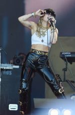 Miley Cyrus Performs on the Pyramid stage during day five of Glastonbury Festival