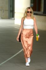 Mollie King Leaving BBC Radio One Studios in London