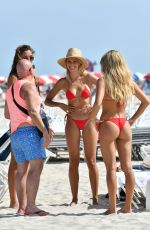 Natalie Jayne Roser with her friends Bree Lynn Kleintop and Shannon Lawsonin at Miami Beach