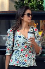 Nina Dobrev Makes a quick coffee run in Manhattan
