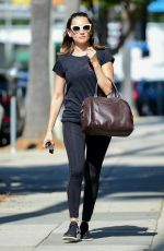 Rachael Leigh Cook Going to the gym in Studio City