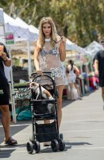 Rachel McCord At the Farmers market and the beach with her dogs in Los Angeles