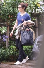 Rachel Weisz Leaving her home in London