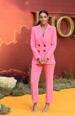 Rochelle Humes At The Lion King Film Premiere in London