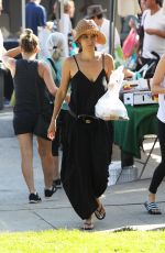 Roselyn Sanchez Enjoying her Sunday with the family at the Farmers Market, Los Angeles