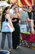 Roselyn Sanchez Shopping at the Farmers Market in Studio City