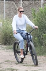 Rosie Huntington-Whiteley At a park in Malibu