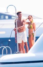 Ruby Mae Enjoys the sun on a yacht in Saint Tropez