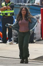 Salma Hayek On the set of Bliss in Los Angeles