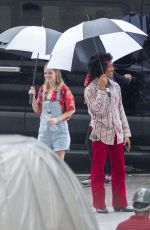 Samara Weaving On the set of Bill and Ted 3 in New Orleans