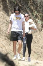 Selena Gomez Hiking with a new puppy in LA