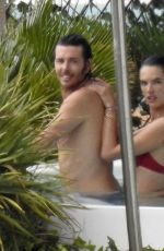 Alessandra Ambrosio and boyfriend Nicolo Oddi photographed in Ibiza