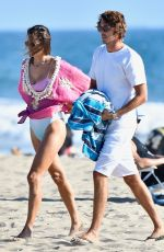 Alessandra Ambrosio In a swimsuit at a beach in Santa Monica